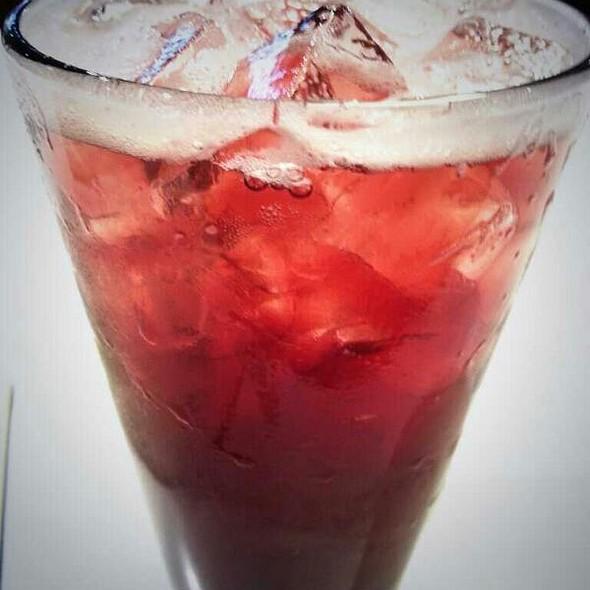 Homemade Hibiscus Soda @ Everyman Espresso