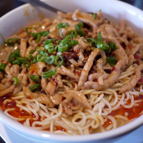 Szechuan Hot and Spicy Dan-Dan Noodles - Crouching Tiger Restaurant, Redwood City, CA