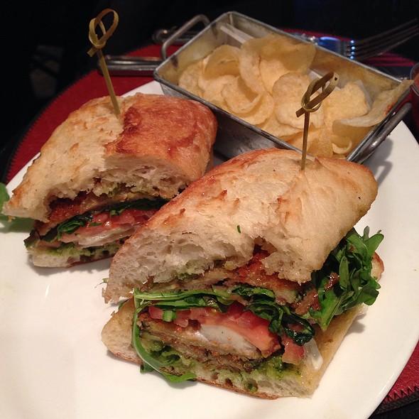 Eggplant Caprese Sandwich With Sweet Potato Fries - MET Back Bay, Boston, MA