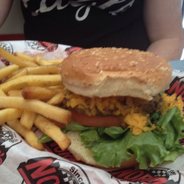 Junior Burger With Cheddar @ Norma's Cafe