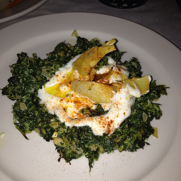 Hot Spinach Meze @ Cazbar