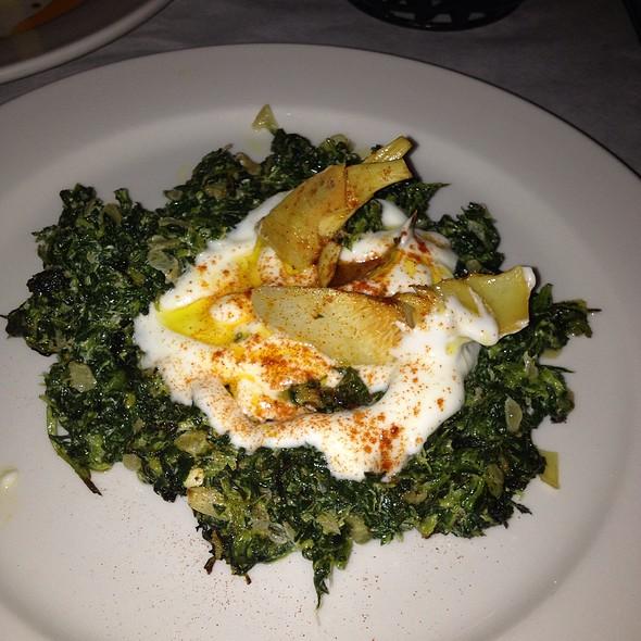 Hot Spinach Meze @ Cazbar