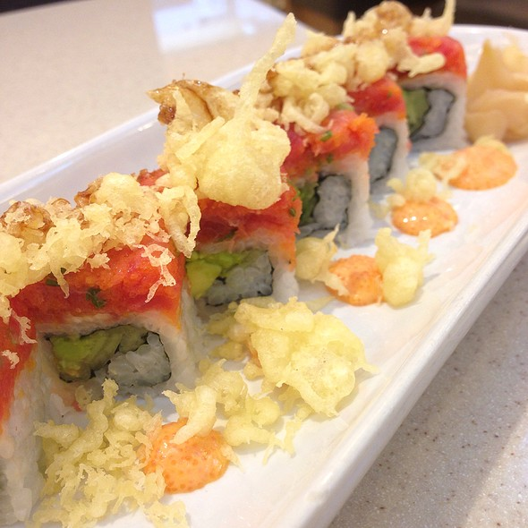 Spicy Crunchy Salmon Roll @ Fuji Japanese Restaurant