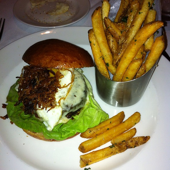 Wagyu Burger With Truffle Parmesan Fries - The Capital Grille - Tampa, Tampa, FL