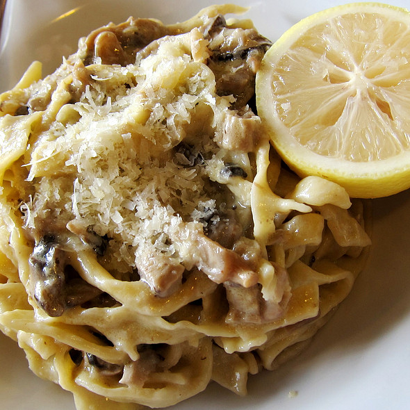 Mushroom Pasta with lemon @ Gino's Brick Oven Pizza