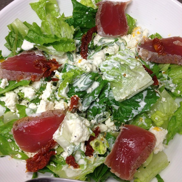 Chopped Mediterranean Salad with Seared Ahi Tuna @ Salt 88
