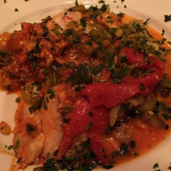Pan Seared Tilapia With Tomato Pesto @ Bacio Italian Restaurante