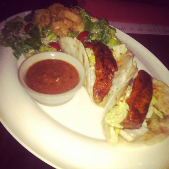 Salmon Tacos & Calamari Salad @ Alumni