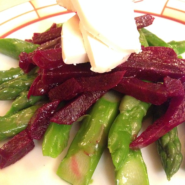 Asparagus And Beetroot Salad With Goat Cheese