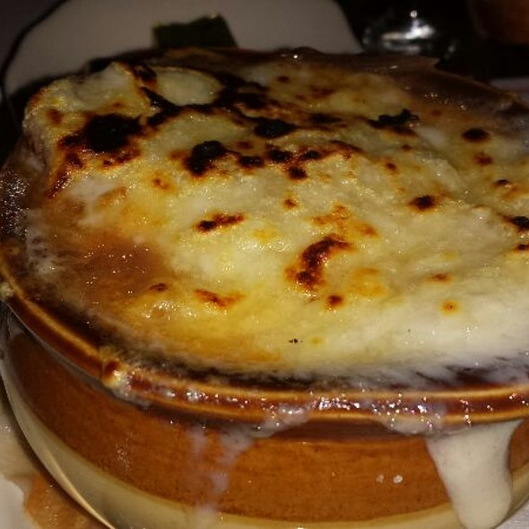 French Onion Soup With Cheesy Frenchy - Cafe Un Deux Trois, New York, NY