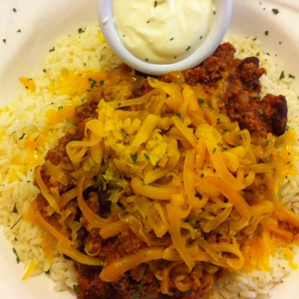Chili Con Carne, Rice, Sour Cream And Cheese @ Chekhov