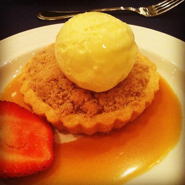 Dutch Apple Tart With Cinnamon Ice Cream And Caramel Sauce @ Washington Duke Inn Hotel
