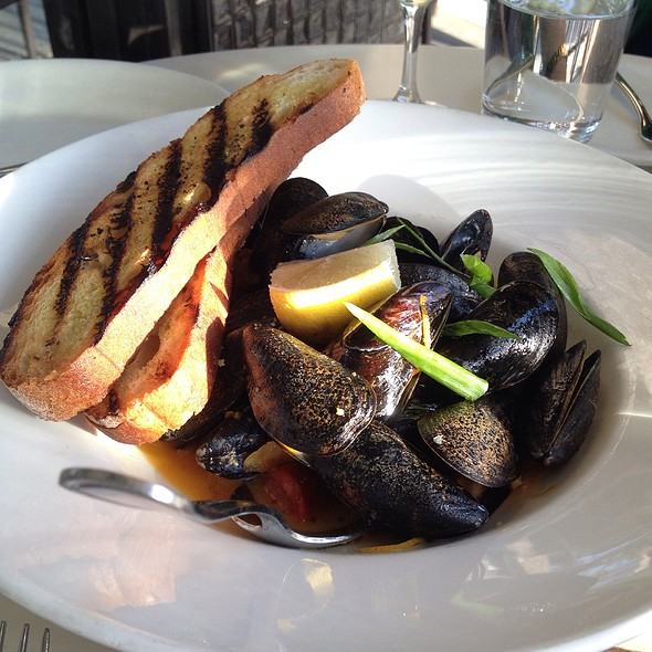 Mussels with chorizo @ Cafe Chloe