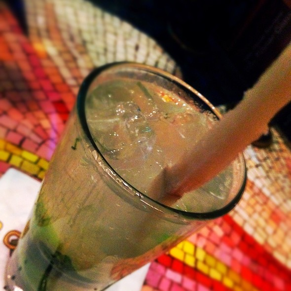 Mojito With Fresh Sugar Cane @ Bongo's Cuban café