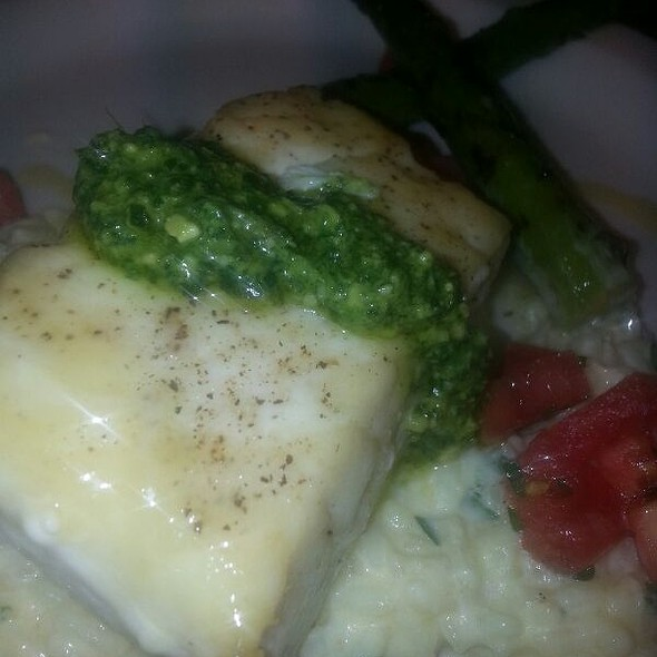 Halibut with Mint-Cilantro Relish - Tre Famiglia, Haddonfield, NJ