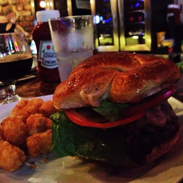 Pinjur Burger On Pretzel @ The Stein & Vine