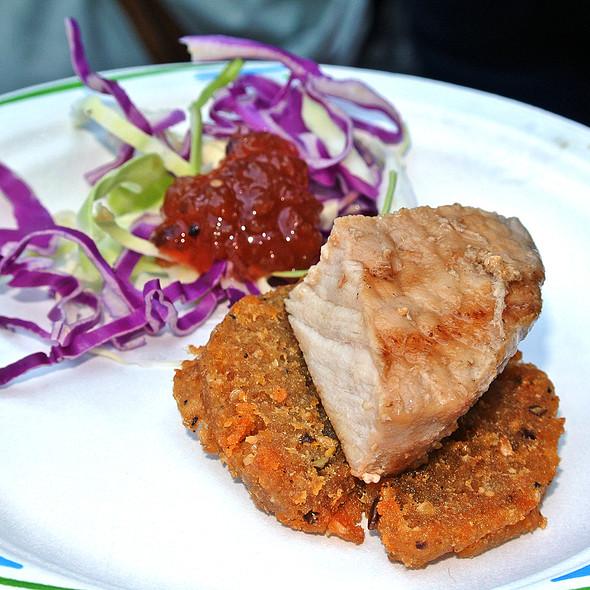 Olive Brine Pork - Ovelia Psistaria Bar, Astoria, NY
