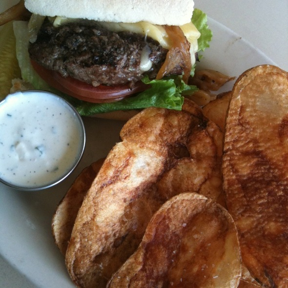 Irish Lamb Burger  @ Lu Lu Cafe