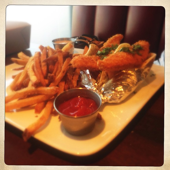 Panko Crusted Salmon Tacos @ The League Kitchen and Tavern
