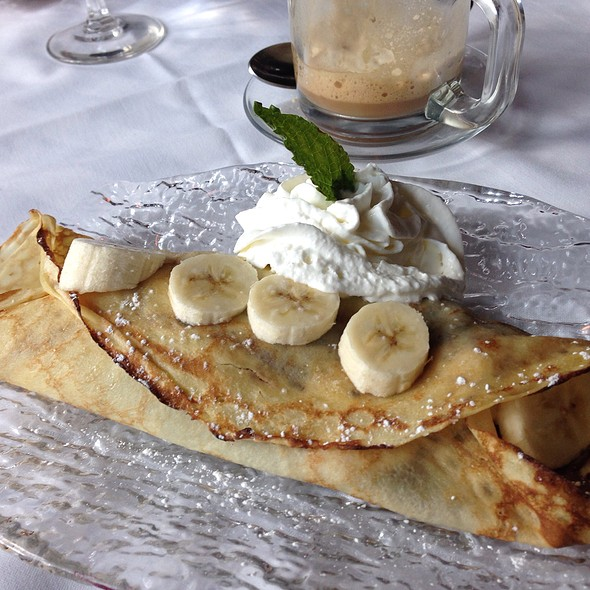 Banana And Nutella Crepe With Banana Walnut Gelato - Suzette's Creperie, Wheaton, IL