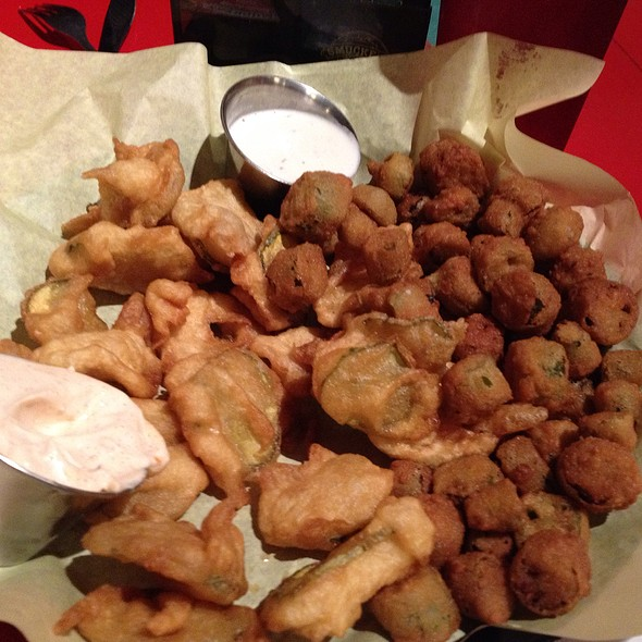Fried Pickles And Fried Okra @ Spoons Cafe, Breakast Restaurant, Lunch, Bakery and Bar