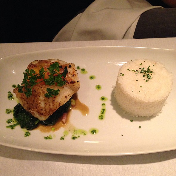 Sea bass - Bernardin's Restaurant at the Zevely House, Winston-Salem, NC
