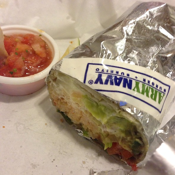 Vegetable Burrito @ Army Navy