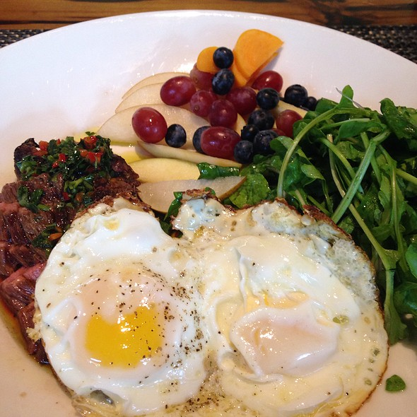 Steak And Eggs With Fruit - LARK on the Park, Dallas, TX