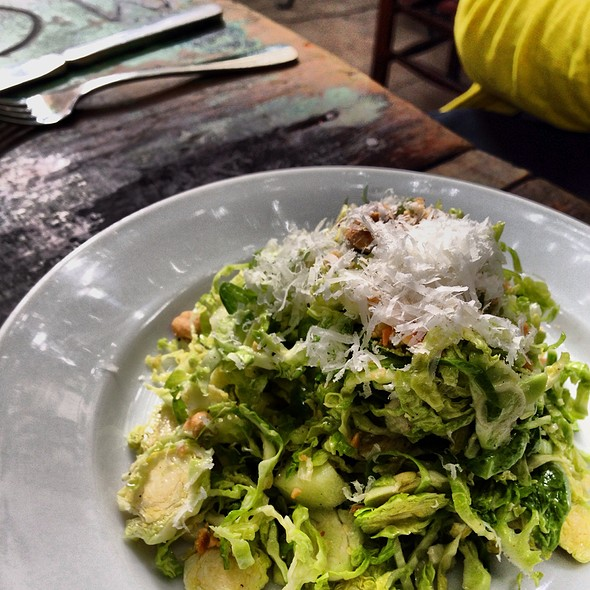 Shaved Brussels Sprouts Salad @ Sylvain