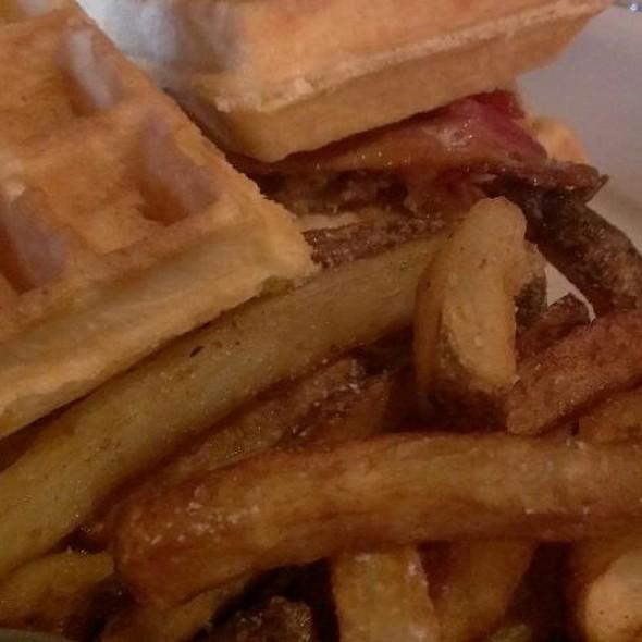 Chicken & Waffle Sandwich @ Manhattan