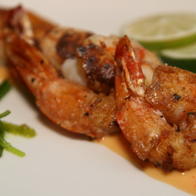 Grilled Shrimp with Lime Aioli