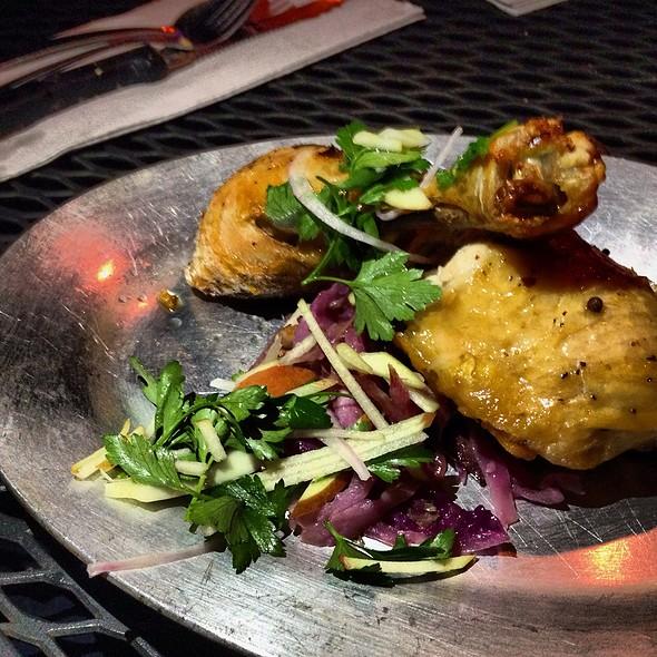 Confit Chicken Leg, Duck Fat @ Bacchanal Fine Wine & Spirits