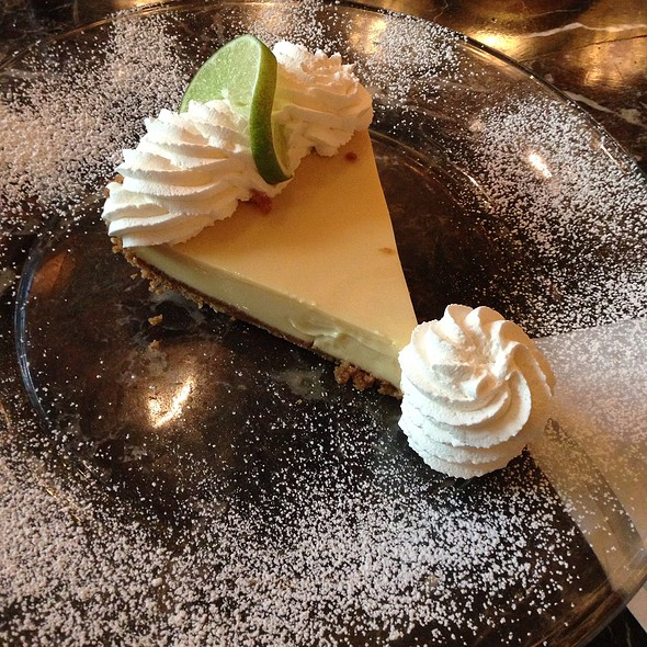 Key Lime Pie Topped With Key Lime Whipped Cream & Key Lime Cake @ Grand Lux Cafe