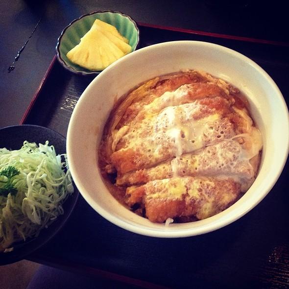 Rosu Tonkatsu Set @ Ginza Bairin