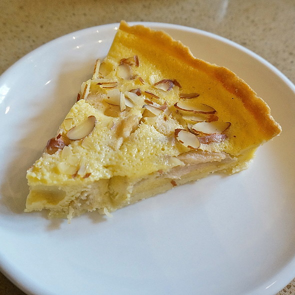 Almond apple custard fruit tart with cardamom at Floriole Cafe ...