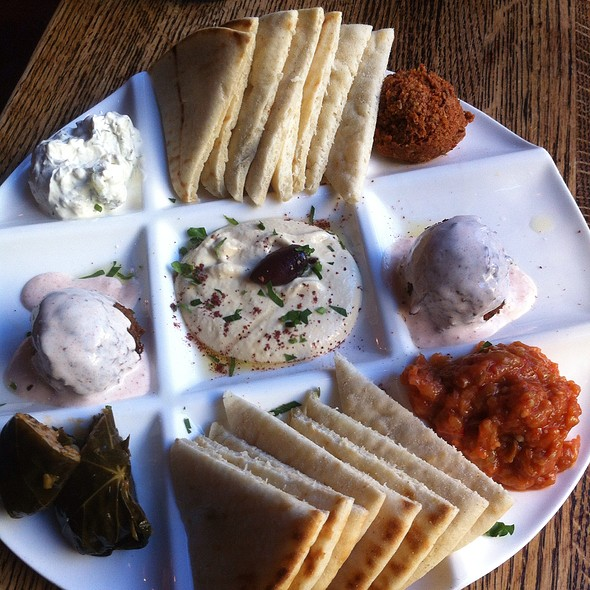 mediterranean mezze platter @ Dunya