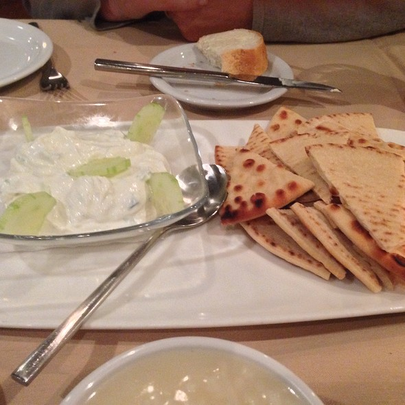 Pita With Yogurt And Cucumber - Avli Restaurant, Winnetka, IL