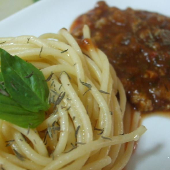 Spaghetti With Red Sauce @ My Home