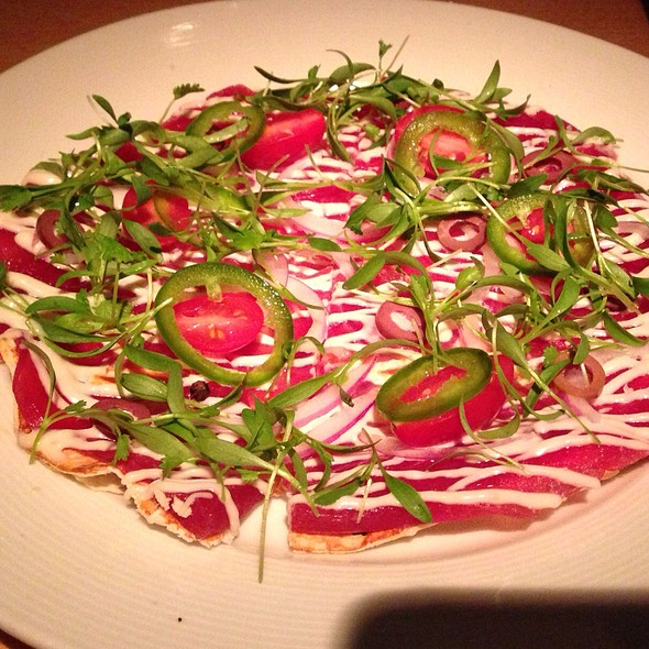 Tuna Pizza with Tomatoes - Morimoto New York, New York, NY