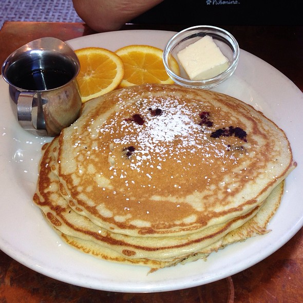Blueberry Pancakes - Caffe Delucchi, San Francisco, CA