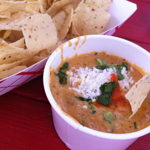 Green Chili Queso Dip @ Torchy's Tacos