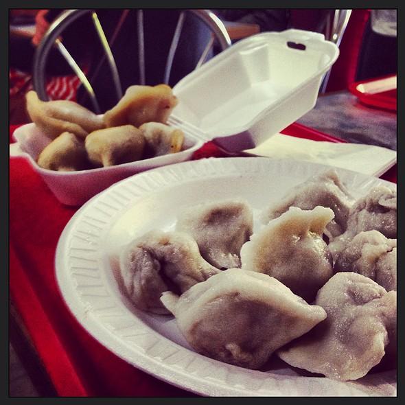 Mushroom & Chicken Boiled Dumpling @ Tasty Dumpling Inc