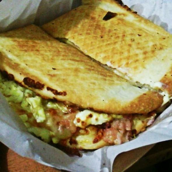 Folded Pizza: Bacon, Mango And Egg @ Yellowcab Pizza