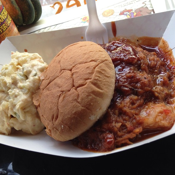 Pulled Pork Sandwich @ Hyde Away Blues BBQ & Gumbo Cafe