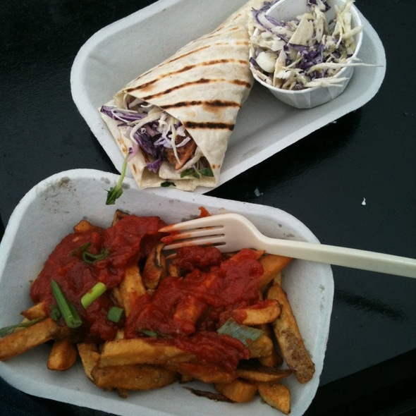 Spicy Pacific Fish Tacones With Curry Chips @ Red Fish Blue Fish