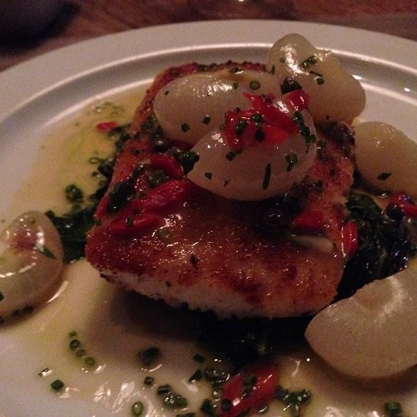 Mustard Crusted Jumbo Flounder @ FIG