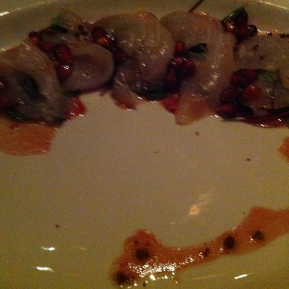 Kampachi Crudo With Pomegranate Seeds