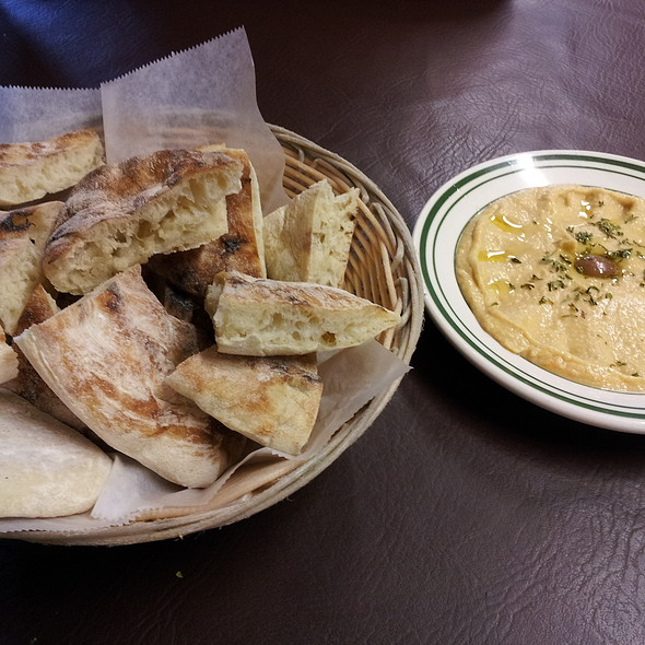 Hummus And Lepinja Bread @ Café Pita