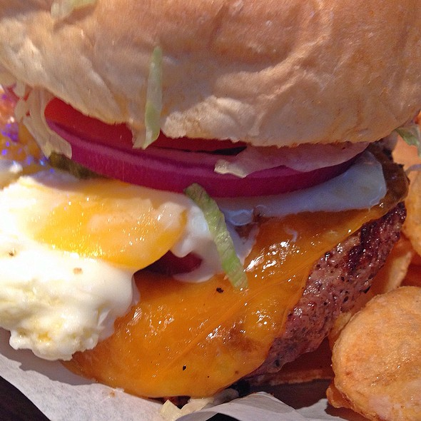 Beef, Cheese And Egg Burger @ Logan's Roadhouse