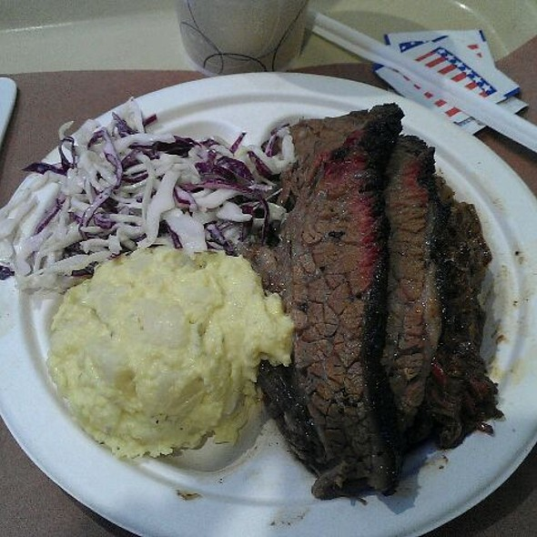 Brisket, Chopped Beef, Potato Salad, Coleslaw